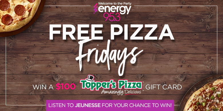 Free Pizza Fridays with Topper's Pizza!